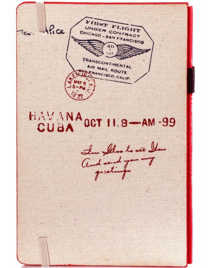 Dreamnotes D8019-R A5 notitieboek Paris 21 x 15 cm. rood 254 p