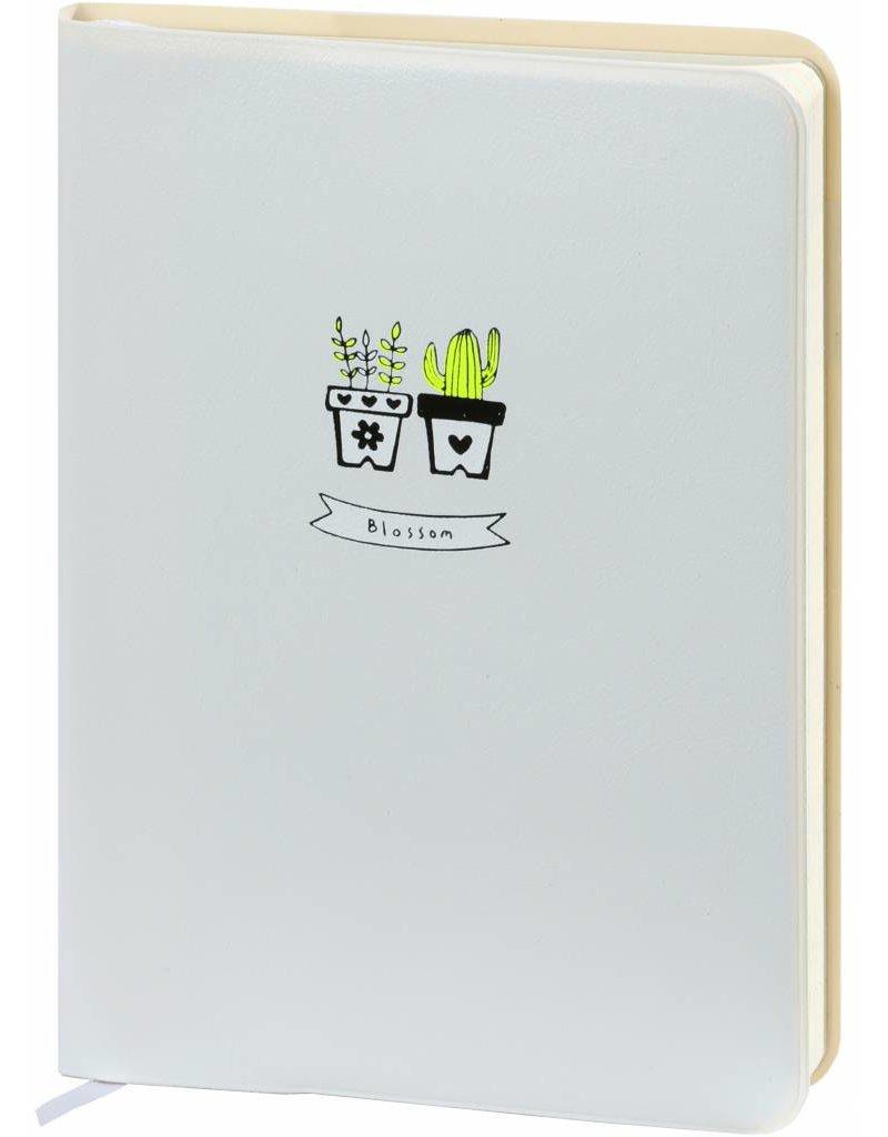 Dreamnotes D6066-3 A6 agenda-notitieboek Bloesem 17 x 12 cm. Zacht wit 226 p