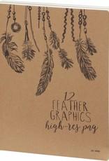 Dreamnotes D3900 Sketchbook Feathers 26 x 19 cm 240 p