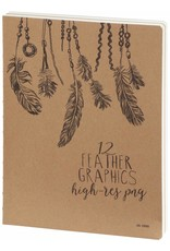 Dreamnotes Sketchbook Feathers 26 x 19 cm 240 p