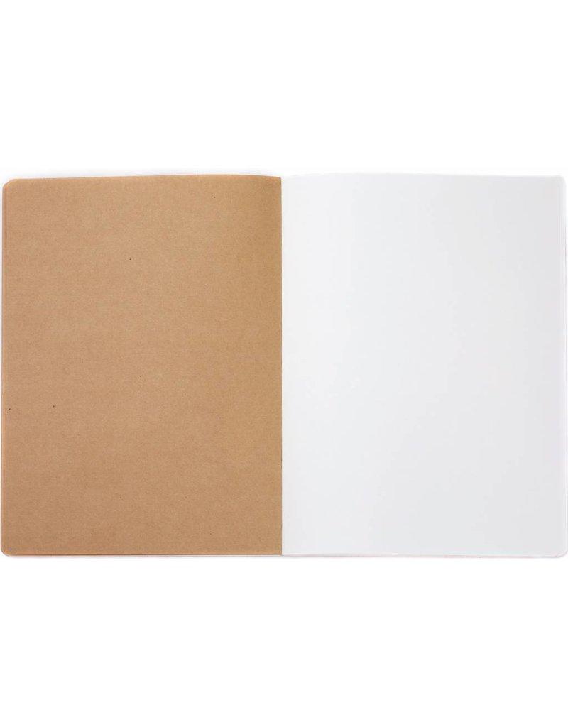 Dreamnotes 4 stuks schetsboek Veren 26 x 19 cm. 240 p