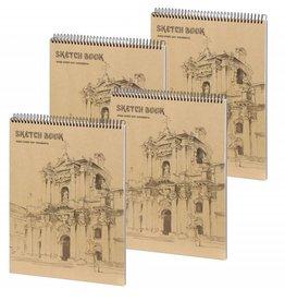 Dreamnotes D5051-P4 4 Stuks A4 schetsboeken Wondervol 30 x 22 cm. 50 p
