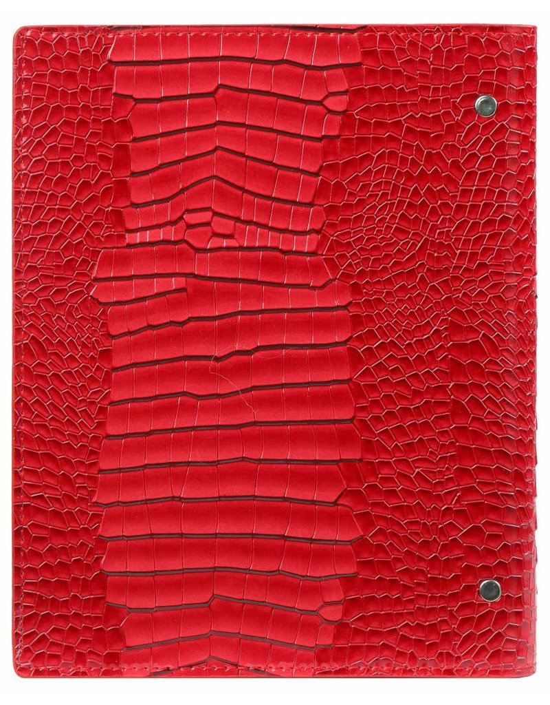 Kalpa Compact Personal (Standaard) organizer gloss croco rood