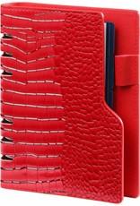 Kalpa Kalpa personal compact organizer gloss croco red