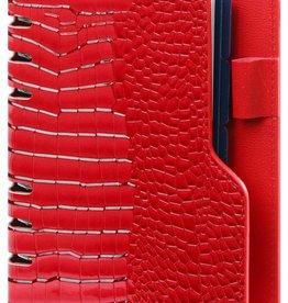 Kalpa 1116-62 Personal (standaard) compact organiser gloss croco rood