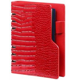 Kalpa 1116-62 Compact Personal (Standaard) organizer gloss croco rood
