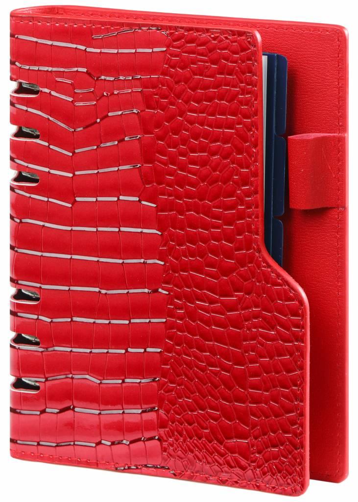 Kalpa Personal (standaard) compact organiser gloss croco rood