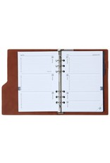 Kalpa 1016-63 Kalpa A5 Compact Organiser With Paper Fillers Weekly Planner, Journal, Diary 23 x 18 cm - Gloss Croco Taupe