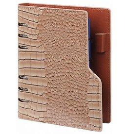 Kalpa 1116-63 personal compact organizer Gloss Croco Taupe