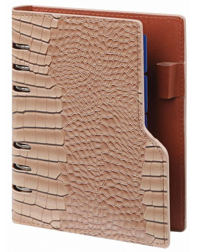 Kalpa Compact Personal (Standaard) organizer gloss croco taupe