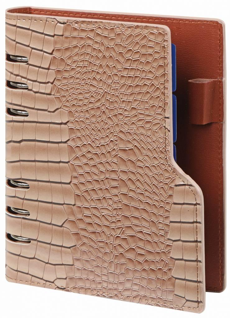 Kalpa Personal (standaard) compact organiser gloss croco taupe
