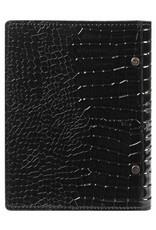 Kalpa Kalpa personal compact organizer gloss croco black
