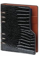 Kalpa Compact Personal (Standaard) organizer gloss croco zwart