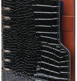 Kalpa 1116-61 Personal (standaard) compact organiser gloss croco zwart