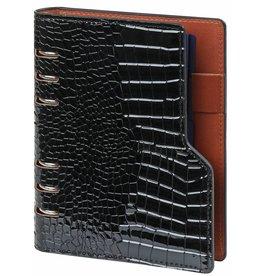 Kalpa 1116-61 Compact personal organiser gloss croco black