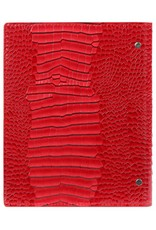 Kalpa 1016-62 Kalpa A5 Compact Organiser With Paper Fillers Weekly Planner, Journal, Diary 23 x 18 cm - Gloss Croco Red