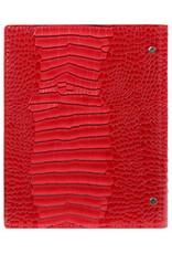 Kalpa Kalpa A5 compacte Croco rood organizer