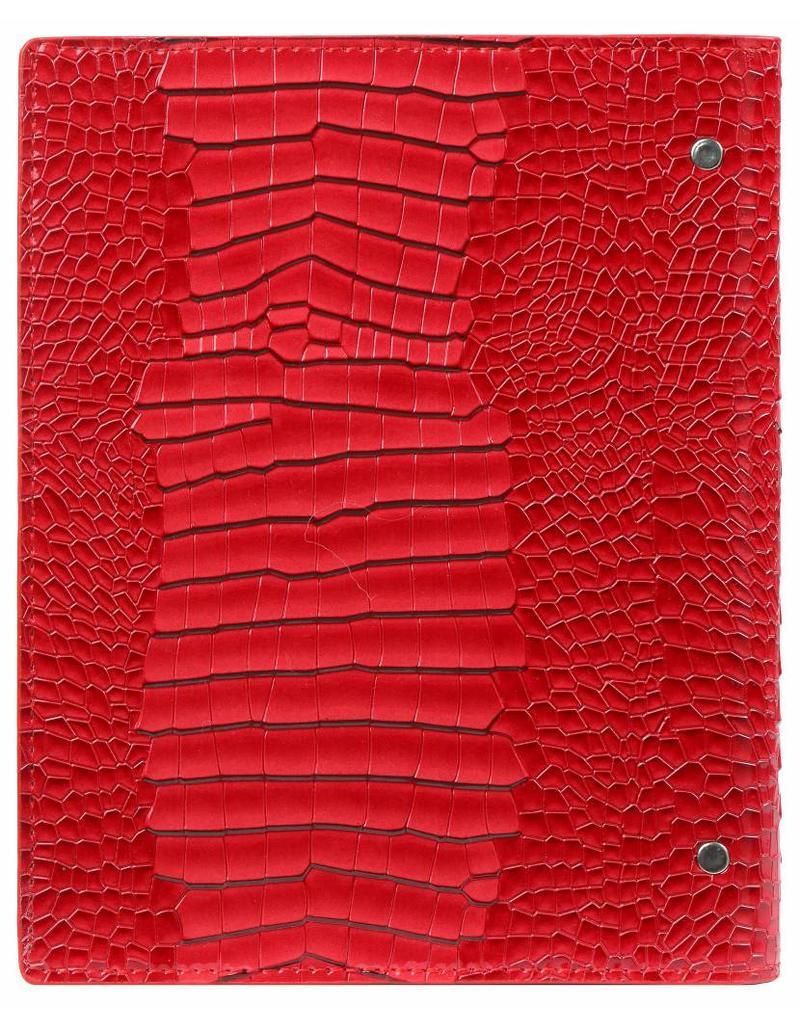 Kalpa Compact A5 organizer gloss croco rood