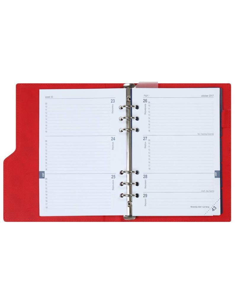 Kalpa Compact A5 organiser gloss croco red