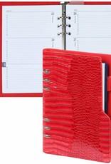Kalpa Kalpa A5 Compact Organizer Gloss Croco Red