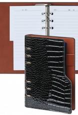 Kalpa Personal (standaard) compact organiser gloss croco zwart