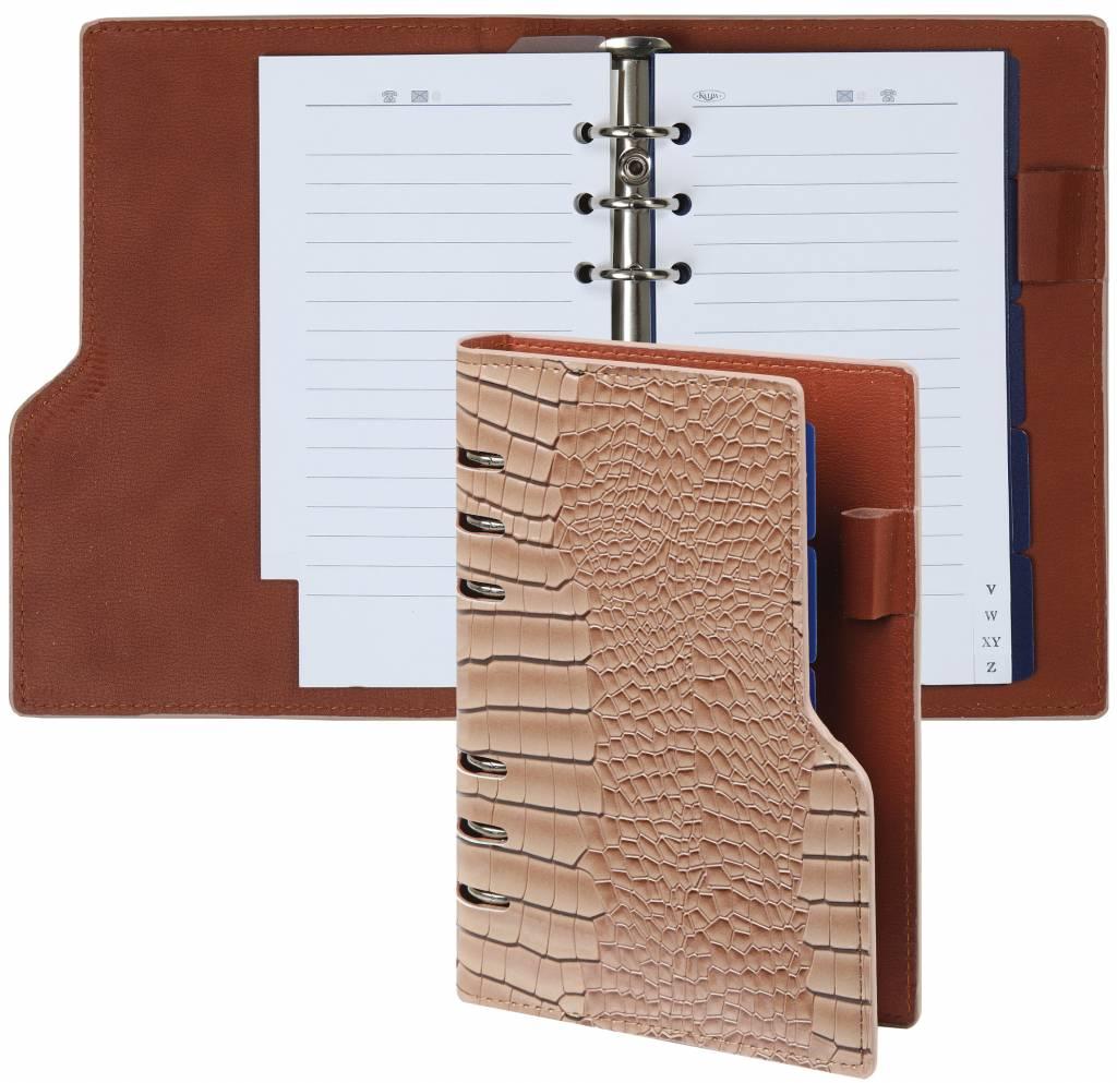 Kalpa 1116-63 Kalpa Compact Personal Organiser Agenda Paper Fillers, Journal, Diary - 19 x 14 cm - Gloss Croco Tapue