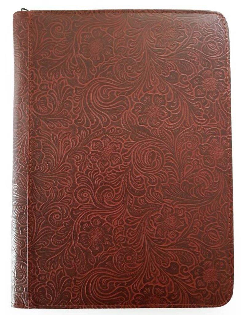 Kalpa Alpstein schrijfmap met rits flowergarden bordeaux