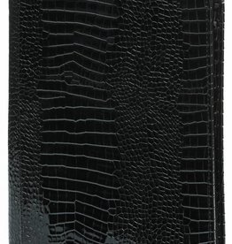 Kalpa 2400-61 Alpstein schrijfmap met rits gloss-croco zwart