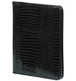 Kalpa 2400-61 Alpstein writing case with zip gloss croco black