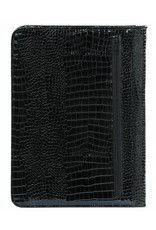 Kalpa 2400-61 Kalpa Alpstein writing case with zip gloss-croco black