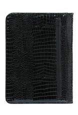 Kalpa Alpstein schrijfmap met rits gloss croco zwart