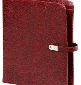 Kalpa 1011-48 Kalpa A5 Organiser Faux Leather With Paper Fillers Weekly Planner, Journal, Diary - Flower Burgundy