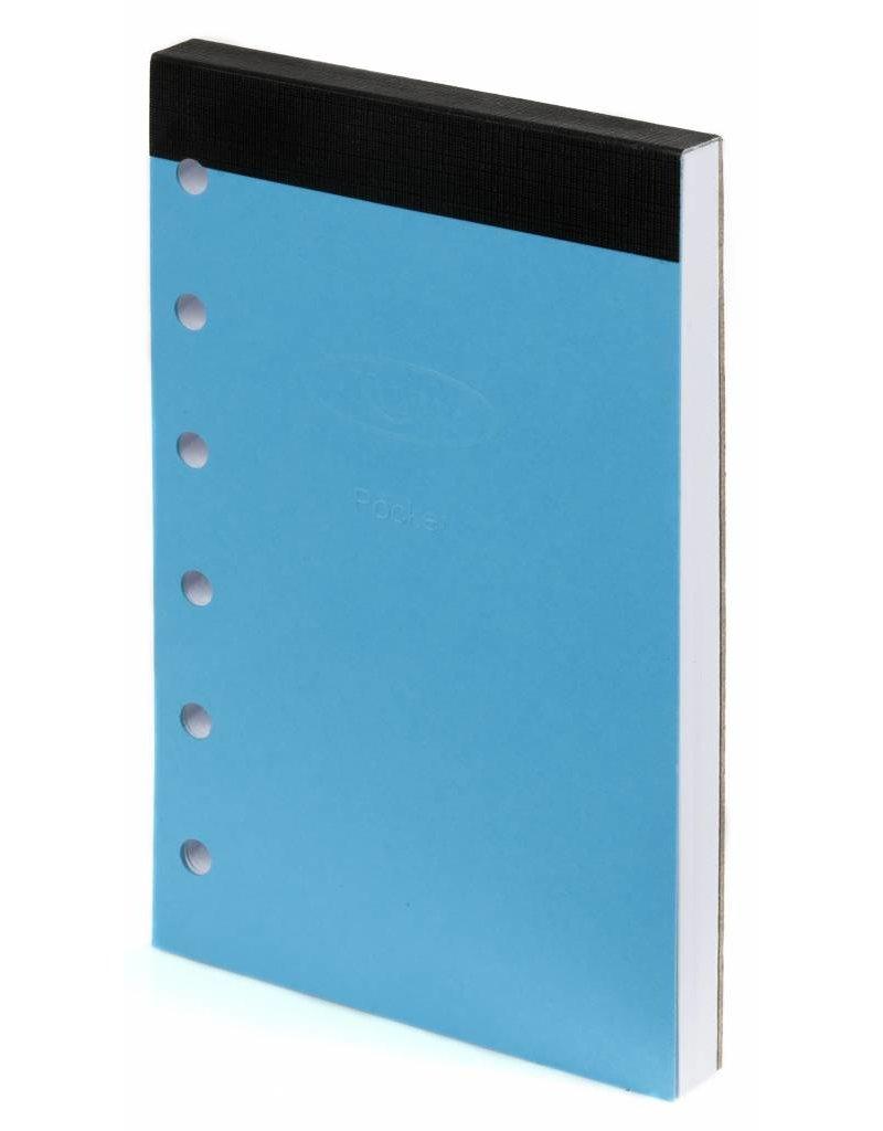 Kalpa 1311-Kz Kalpa Junior Pocket Organiser Handmade Leather With Paper Fillers, Journal, Diary - Keta Black