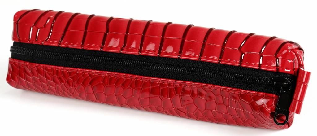Kalpa Kalpa Bodensee pencase with zip red croco