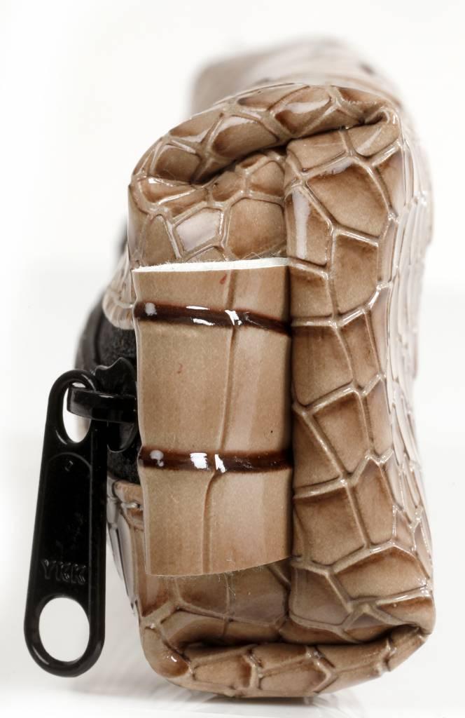 Kalpa Kalpa Bodensee pencase with zip taupe croco