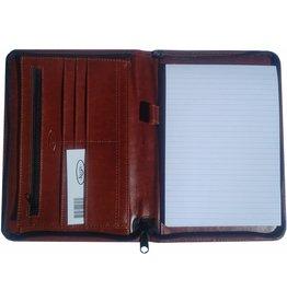 Kalpa 2500-40 A5 schrijfmap met rits Paro bruin