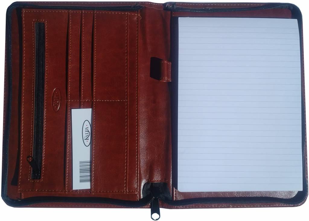 Kalpa 2500-40 Kalpa A5 Organiser Alpstein Writing Case Weekly Planner Journal Diary - 25 x 18 cm - Paro Brown