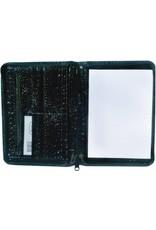 Kalpa A5 Schrijfmap met rits gloss croco zwart