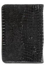 Kalpa A5 schrijfmap met rits croco zwart