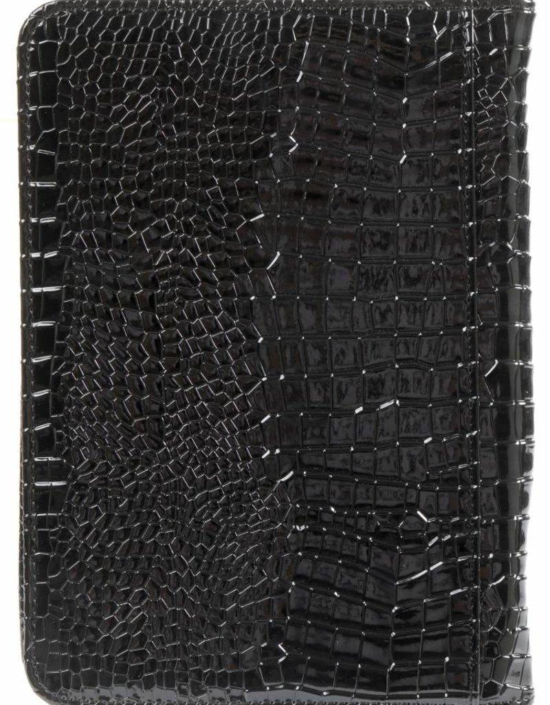 Kalpa 2500-61 Kalpa A5 Organiser Alpstein Writing Case Weekly Planner Journal Diary - 25 x 18 cm - Croco Black