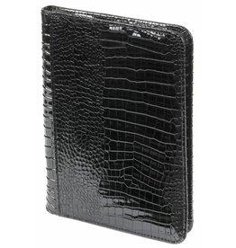 Kalpa 2500-61 A5 writing case with zip gloss croco black