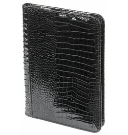 Kalpa A5 Writing case with zip croco black