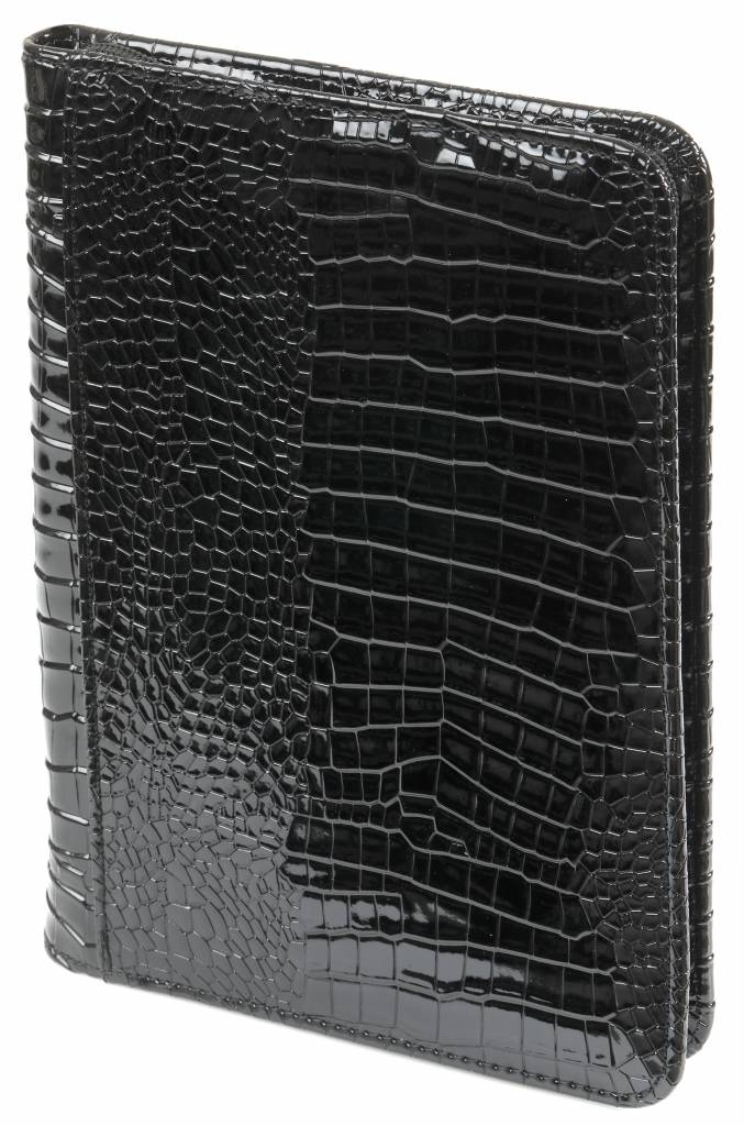 Kalpa A5 Writing case with zip croco black