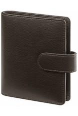 Kalpa 1311-Kb Pocket organizer Keta darkbrown leather + free agenda