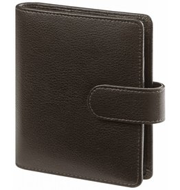 Kalpa 1311-Kb Kalpa Junior Pocket Organiser Handmade Leather With Paper Fillers, Journal, Diary - Keta Dark Brown