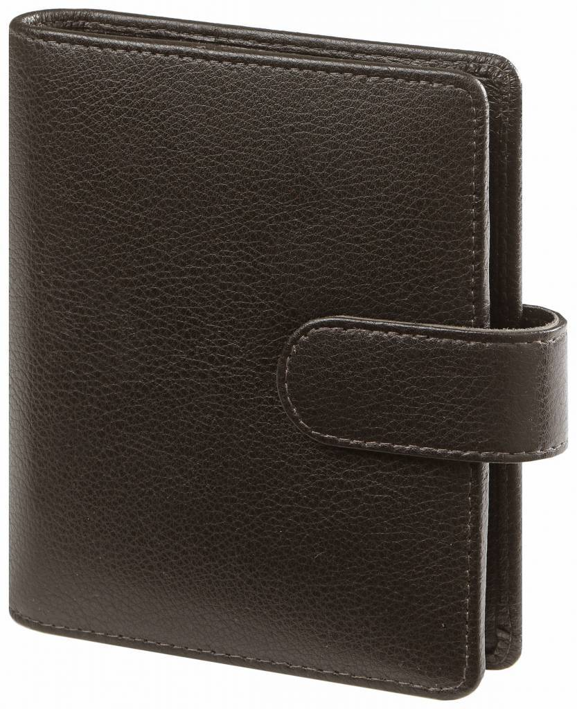 Kalpa 1311-Kb Pocket organizer Keta darkbrown leather + free agenda