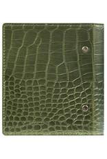 Kalpa Compact pocket organiser gloss croco green