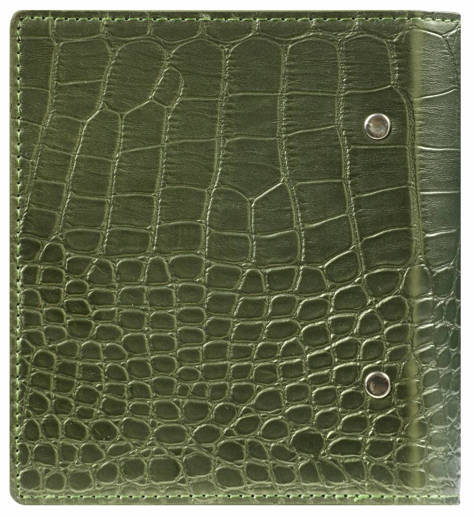 Kalpa 1316-66 Junior - Pocket compact organiser pullup croco green