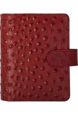 Kalpa Pocket (junior) organizer struisvogelprint rood - leer