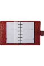 Kalpa Kalpa Pocket - Junior organizer Struisvogelprint rood  - leer